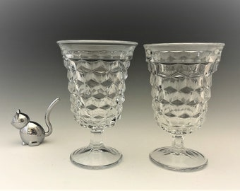 Fostoria American (2056) - Set of 2 Low Water Goblets (026003)