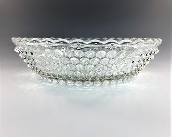 Beautiful EAPG Bowl - Columbia Glass Company - Dewdrop (OMN) - AKA Hobnail Double-Eye - Circa 1888 - Early American Pattern Glass