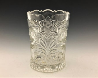 EAPG Spooner - Indiana Glass Company - No. 162 (OMN) - AKA Narcissus Spray or Bouquet Pattern - Early American Pattern Glass - Circa 1918