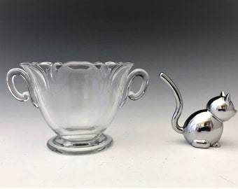 Heisey #1401 Empress - Open Sugar Bowl - Hard to Find Ring Base Variant