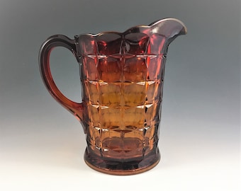 Indiana Glass Amberina Pitcher - Constellation Pattern - Line #300 - Vintage Water Pitcher - Sunset - Tiara Exclusives