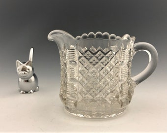 EAPG Creamer - Beaumont Glass - No. 108 (OMN) - AKA Cadmus - Circa 1902 - Early American Pattern Glass