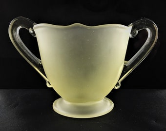 Depression Glass Open Sugar Bowl - Lancaster 879 Sugar - Satin Topaz