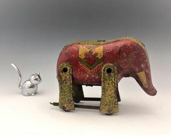 Vintage Tin Elephant Toy