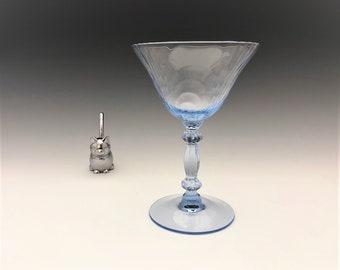 Cambridge Glass Caprice Moonlight Blue Pattern - Champagne Glass - Elegant Depression Era Glass