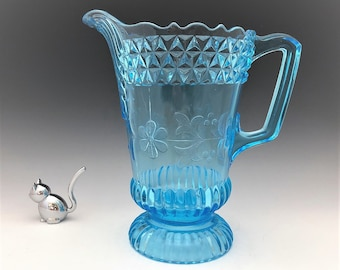 EAPG Pitcher - Adams and Company No. 140 (OMN) - AKA Wildflower - Early American Pattern Glass - Circa 1880's