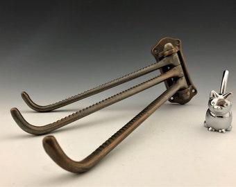 Pivoting Clothes Hanger Bracket - Heavy Gauge Metal - Three Swinging Arms