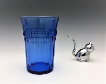 Hazel Atlas Ritz Blue Utility Tumbler (#9526) Cobalt Blue Depression Era Tumbler