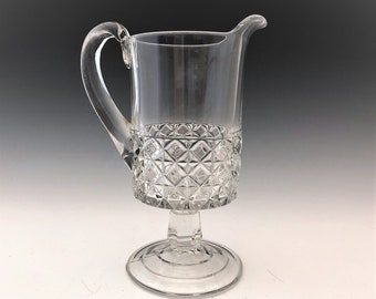 EAPG Creamer - Ripley and Company - Mascotte Pattern - AKA Dominion - Early American Pattern Glass - c. 1884