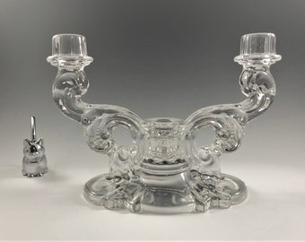 Heisey No. 1513 Three Light Candelabra Epergne - Elegant Glass Candlestick Holder
