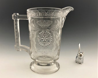 Early American Pattern EAPG Water Pitcher - McKee and Brothers - Modern Pattern (OMN) - Early American Pattern Glass - 1881