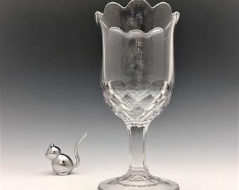 EAPG Celery Vase - New York Pattern - Honeycomb Pattern - Early American Pattern Glass - c. 1880
