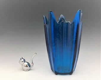 Viking Glass Epic No. 6900 Spiked Vase - Stockholm Pattern - Wayne Husted Design