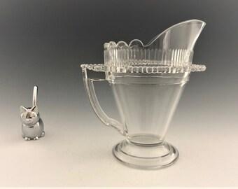 EAPG Creamer - Co-Operative Flint Glass - Beaded Flange Pattern - Hard to Find - Early American Pattern Glass