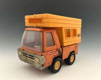 Vintage Buddy L Camper - Orange Toy Truck Camper