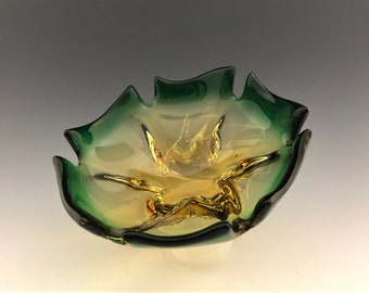 1960's Murano Art Glass Bowl - Blanco Design - Spartaco Colelli Piece - Jordan Import Company - Hard to Find