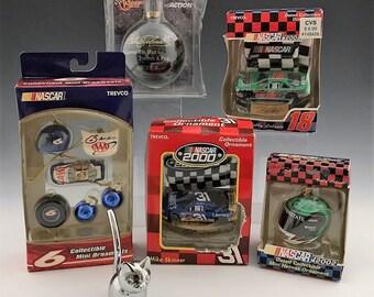NASCAR Christmas Ornaments - Redneck Holiday Pack - Earnhardt - Labonte - Skinner - Mark Martin