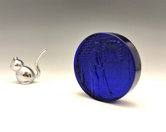 Cobalt Blue Glass Blower Paperweight - Glass Souvenir - Glass Maker