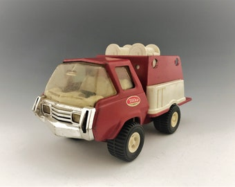 Vintage Tonka Firetruck - Red and White Toy Truck