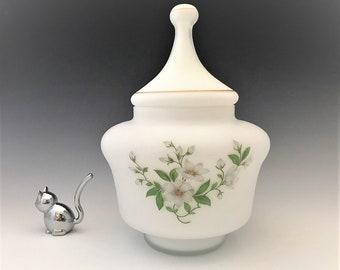 Norleans Glass Ginger Jar - Satin Finish - Apothecary Jar - Italian Art Glass