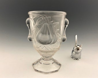 EAPG Spooner -Adams and Company - Gipsy Pattern (OMN) - AKA Baltimore Pear - Early American Pattern Glass - Circa 1890's