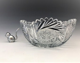 Heisey No. 350 Pinwheel and Fan Bowl - Early American Pattern Glass (EAPG) - c. 1910