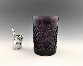EAPG Amethyst Tumbler - Riverside Glass - No. 484 Croesus (OMN) Pattern - Circa 1898 - Early American Pattern Glass