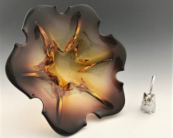 1960's Murano Art Glass Bowl - Blanco Design - Spartaco Colelli Piece - Jordan Import Company - Hard to Find
