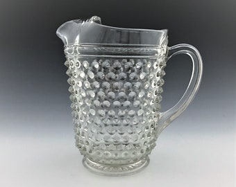 Depression Glass Hobnail Water Pitcher - Anchor Hocking Hobnail Clear Pattern - 1934-36