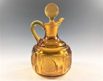 Fostoria Coin Amber Cruet - Vintage Amber Glass