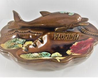 Vintage Ceramic Dolphin Ashtray