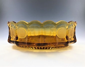 Fostoria Coin Glass Amber - 8 Inch Oval Bowl