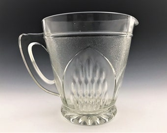 Mid-Century English Glass Pitcher - Sherdley Glass - Nordic Pattern - Made in England