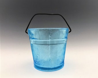 Bryce Brother EAPG Jelly Jar - Bucket Pattern - Early American Pattern Glass - Toothpick Holder - Circa 1880's