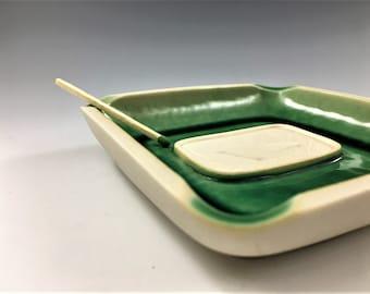 Unique Mid Century Ceramic Bird Ashtray - League of New Hampshire Arts and Crafts - Craftsman's Fair - 1958 - Chapman - Scarce Piece
