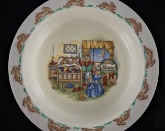 Vintage Bunnykins Childrens Bowl - Porridge Bowl - Royal Doulton - Baby Plate