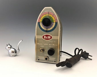 Barker and Williamson Inc. Model 600 Dip Meter - Vintage B&W Test Equipment