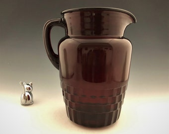 Anchor Hocking Royal Ruby Windsor 63 Ounce Pitcher - Ruby Red Depression Glass