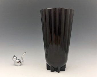 Vintage Hocking Glass Royal Ruby Glass Vase - R900 Classic Pattern - Rachael Pattern - Hard to Find 10 Inch Vase
