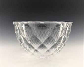 Orrefors Scandinavian Art Glass Bowl - Signed Johansson Bowl
