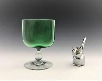 Elegant Glass Cigarette Holder - Uranium Glass - Depression Era Glass - Glowing Glass - Hard to Find