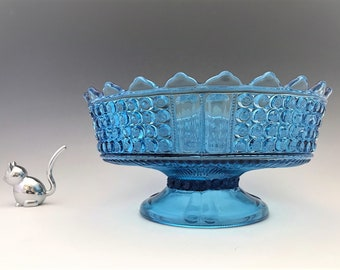 EAPG Footed Bowl/Low Compote - Richards and Hatley Glass No. 25 Three Panel - Early American Pattern Glass - c. 1885