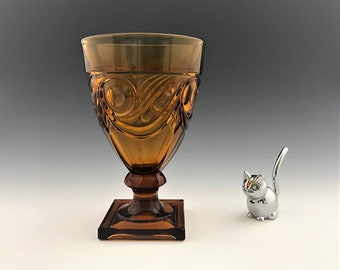 Vintage Heisey Ipswich Amber Compote - 1/2 Pound Candy Jar - Elegant Depression Era Glass