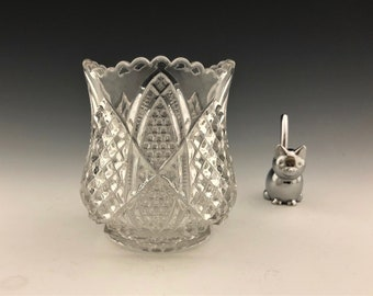 EAPG Spooner - George Duncan and Sons Glass - No. 30 (OMN) - AKA Diamond Cut Pattern - Early American Pattern Glass - Circa 1897