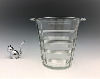 Hocking Glass Depression Glass Ice Bucket - Ring Pattern - Banded Rings