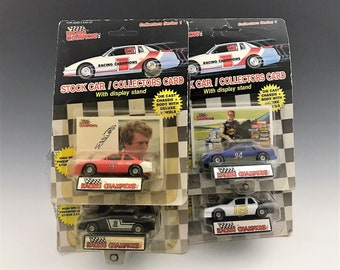 Set of 4 Racing Champions Series 1 Die Cast Stock Cars - Labonte - Marlin - Elliott - Pearson