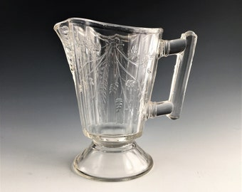 Beautiful EAPG Creamer - Bryce Brothers Glass - Duquesne Pattern (OMN) - AKA Wheat and Barley - Circa 1880's - Early American Pattern Glass