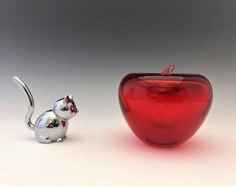 Vintage Glass Apple - Blenko Apple