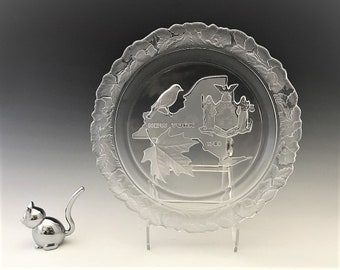 """Fostoria """"Our American States"""" Plate - New York - 1971 Crystal Collector's Plate"""