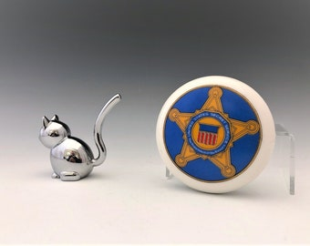 Secret Service Paperweight - Vintage Porcelain Paperweight - Department of the Treasury - Hard to Find